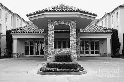 Vineyard Creek Hyatt Hotel Santa Rosa California 5d25792 Bw Poster by Wingsdomain Art and Photography