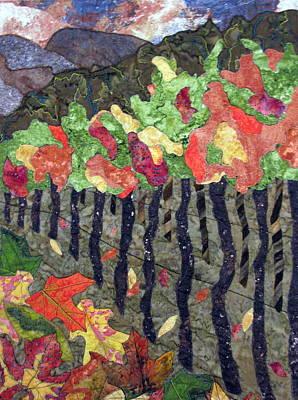 Vineyard In Autumn Poster by Lynda K Boardman