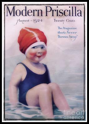 Vintage 1924 - Modern Priscilla Poster by Ella Kaye Dickey