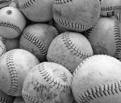 Vintage Baseballs Poster by Brooke Ryan