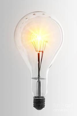 Vintage Bulb Poster by Carlos Caetano