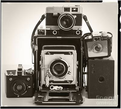 Vintage Cameras Poster by Edward Fielding