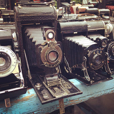 Vintage Cameras Poster by Sarah Coppola