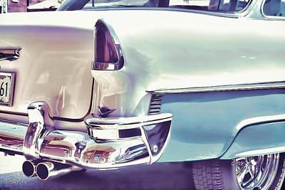 Vintage Chevy Car Art Powder Blue Poster by Lesa Fine