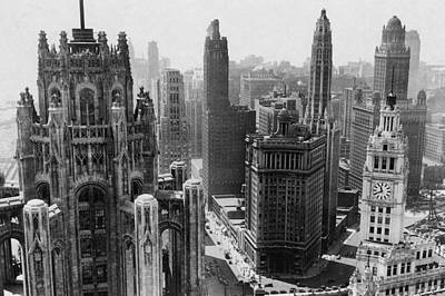 Vintage Chicago Skyline Poster by Horsch Gallery