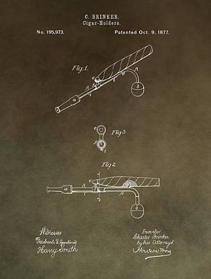 Vintage Cigar Holder Patent Poster by Dan Sproul