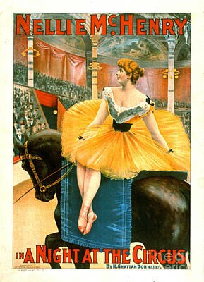 Vintage Circus Advertisement 1893 Poster by Padre Art