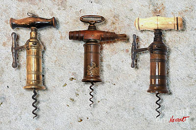 Vintage Corkscrews Painting Poster by Jon Neidert