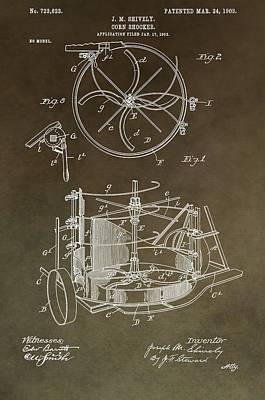 Vintage Corn Shocker Patent Poster by Dan Sproul