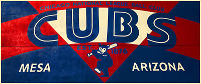Vintage Cubs Spring Training Sign Poster by Stephen Stookey