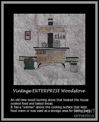 Vintage Enterprise Woodstove Poster by Barbara Griffin