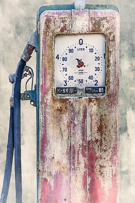 Vintage Gaspump Poster by Erik Brede