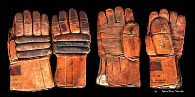 Vintage Hockey Gloves #1 Poster by Spencer Hall