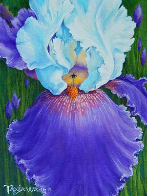 Vintage Iris Poster by Tanja Ware