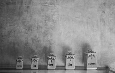 Vintage Jars Poster by Georgia Fowler