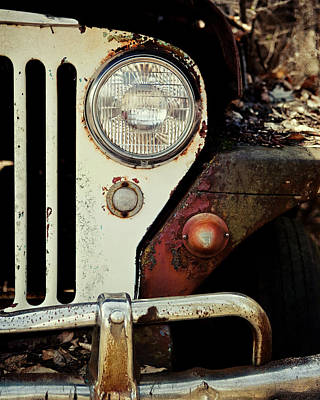 Vintage Jeep Willys Rusty Classic Car Poster by Lisa Russo