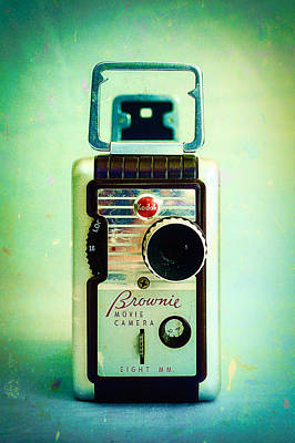 Vintage Kodak Brownie Movie Camera Poster by Jon Woodhams