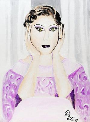 Vintage Lady 1920s Poster by Art by Danielle