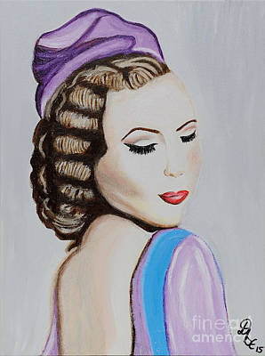 Vintage Lady 1930s Poster by Art by Danielle