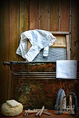 Vintage Laundry Room  Poster by Paul Ward