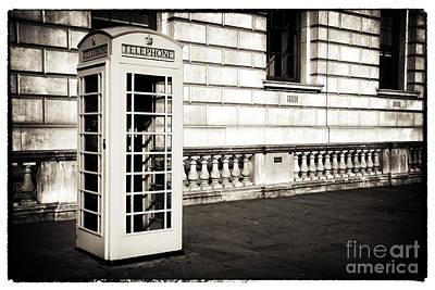 Vintage London Telephone Poster by John Rizzuto