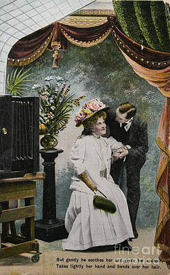 Vintage Love In A Photo Studio Poster by Patricia Hofmeester