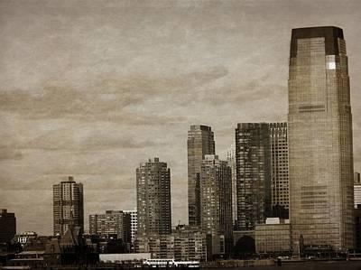 Vintage Manhattan Skyline Poster by Dan Sproul