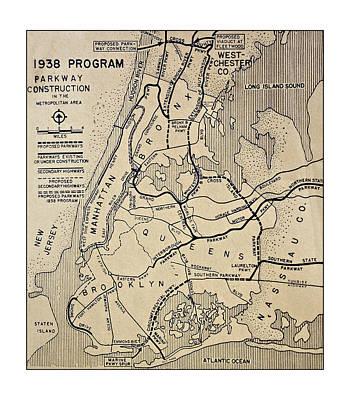 Vintage Newspaper Map Poster by Susan Leggett