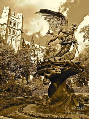 Vintage Of St. John The Divine Poster by Maritza Melendez