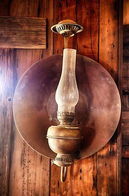 Vintage Oil Lamp  Poster by Saija  Lehtonen