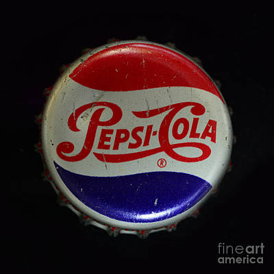 Vintage Pepsi Bottle Cap Poster by Paul Ward