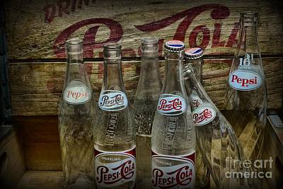Vintage Pepsi Crate And Bottles Poster by Paul Ward