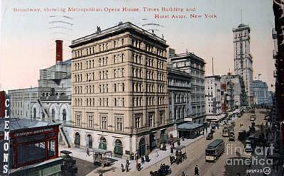 Vintage Postcard Of Broadway Poster by Patricia Hofmeester