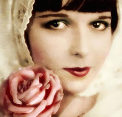 Vintage Rose Poster by Georgiana Romanovna