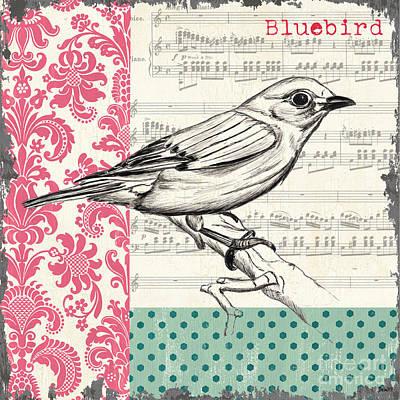 Vintage Songbird 1 Poster by Debbie DeWitt