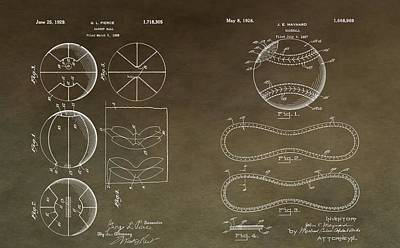 Vintage Sports Patent Drawing Poster by Dan Sproul