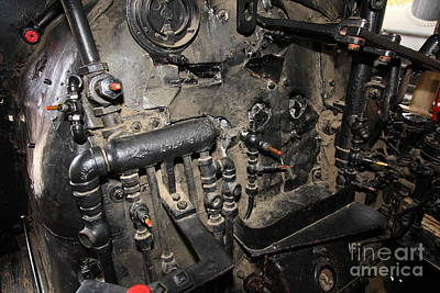 Vintage Steam Locomotive Cab Compartment 5d29264 Poster by Wingsdomain Art and Photography