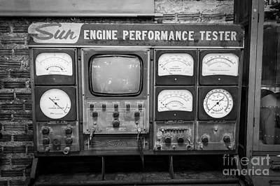 Vintage Sun Engine Performance Tester Poster by Dean Harte