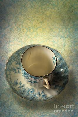 Vintage Tea Cup Poster by Jan Bickerton