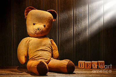 Vintage Teddy Bear Poster by Olivier Le Queinec
