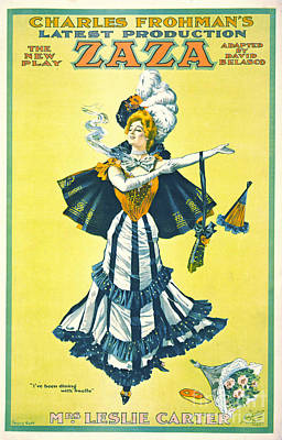 Vintage Theatrical Playbill 1899 Poster by Padre Art