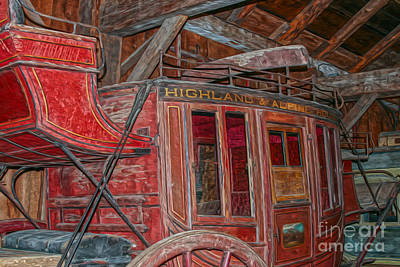Vintage Travel Coach For The Highland And Alpine Route Poster by Patricia Hofmeester