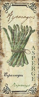 Vintage Vegetables 1 Poster by Debbie DeWitt
