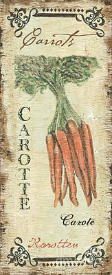 Vintage Vegetables 4 Poster by Debbie DeWitt