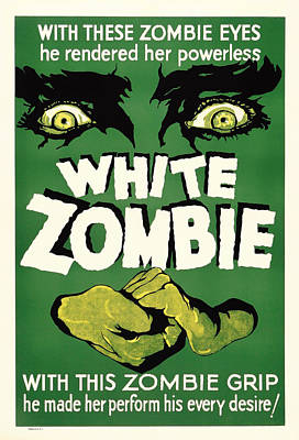 Vintage White Zombie Movie Poster Poster by Mountain Dreams