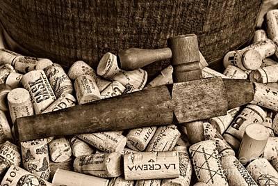 Vintage Wine Barrel Tap Poster by Paul Ward