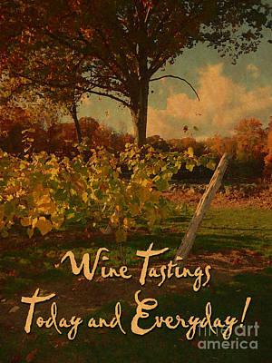 Vintage Wine Tasting Poster Poster by John Turek