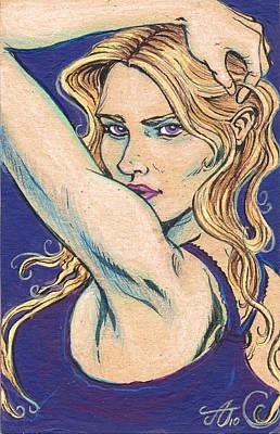 Violet Looker Poster by John Ashton Golden