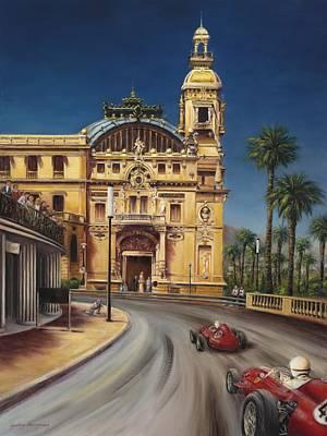 Virage De Massenet - 1959 Grand Prix De Monaco Poster by Gulay Berryman