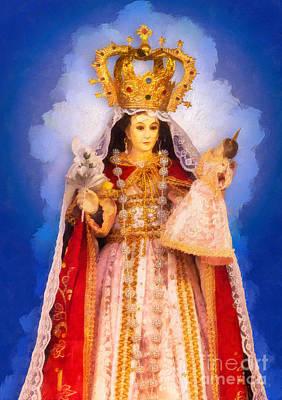 Virgen Del Cisne - Loja Ecuador - Blue Poster by RochVanh